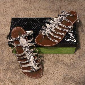 Sam Edelman Snakeskin Gladiator Sandals